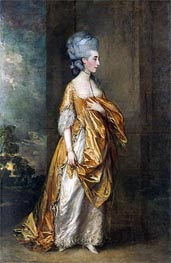 Mrs. Grace Dalrymple Elliott, 1778 by Gainsborough | Painting Reproduction