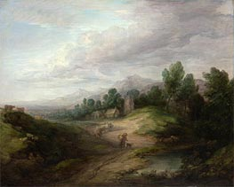 Wooded Upland Landscape | Gainsborough | Gemälde Reproduktion