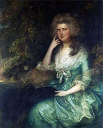 Mrs. William Tennant (Mary Wylde) | Gainsborough | Gemälde Reproduktion