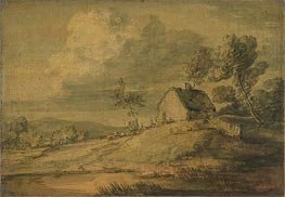 Wooded Landscape with Cottage, Cows and Sheep | Gainsborough | Gemälde Reproduktion