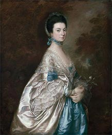 Mrs. Edmund Morton Pleydell, c.1765 by Gainsborough | Painting Reproduction
