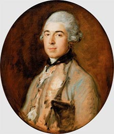 Captain Thomas Mathews, c.1772 by Gainsborough | Painting Reproduction
