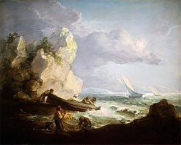Seashore with Fishermen | Gainsborough | Painting Reproduction