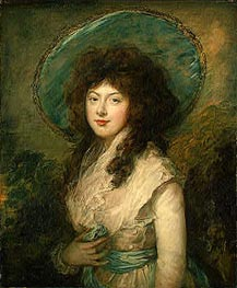 Miss Catherine Tatton, 1786 by Gainsborough | Painting Reproduction