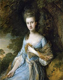 Portrait of Miss Sarah Buxton, c.1776/77 by Gainsborough | Painting Reproduction