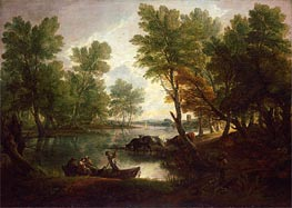 View near King's Bromley, on Trent, Staffordshire, c.1768/70 by Gainsborough | Painting Reproduction
