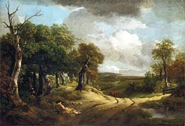 Rest by the Way, 1747 by Gainsborough | Painting Reproduction