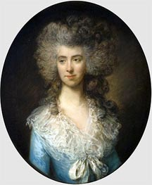 Portrait of a Lady in a Blue Dress, c.1783/85 by Gainsborough | Painting Reproduction