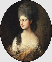 Portrait of Miss Elizabeth Linley | Gainsborough | Gemälde Reproduktion
