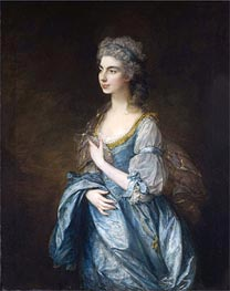 Portrait of Lady Rodney (Anne Harley) | Gainsborough | Painting Reproduction