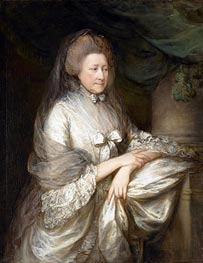 Viscountess Folkestone | Gainsborough | Gemälde Reproduktion