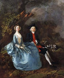 Portrait of Sarah Kirby and John Joshua Kirby, c.1751/52 by Gainsborough | Painting Reproduction