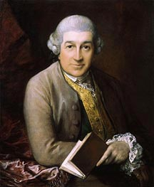 Portrait of David Garrick, 1770 by Gainsborough | Painting Reproduction