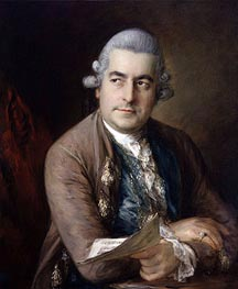 Portrait of Johann Christian Bach, 1776 by Gainsborough | Painting Reproduction
