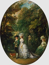 Henry, Duke of Cumberland, with Anne, Duchess of Cumberland, and Lady Elizabeth Luttrell, c.1785/88 von Gainsborough | Gemälde-Reproduktion