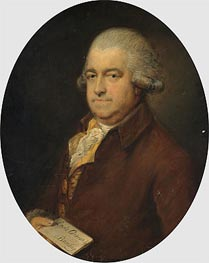 Portrait of Mr G Hammond, Undated von Gainsborough | Gemälde-Reproduktion