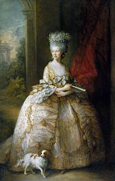 Queen Charlotte, 1781 by Gainsborough | Painting Reproduction