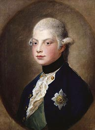 Prince William, later Duke of Clarence, 1782 by Gainsborough | Painting Reproduction