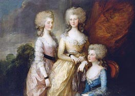 The Three Eldest Princesses: Charlotte, Princess Royal, Augusta and Elizabeth, 1784 by Gainsborough | Painting Reproduction
