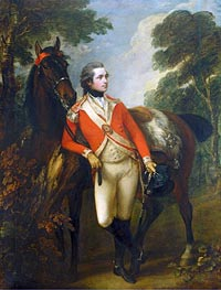 John Hayes St Leger, 1782 by Gainsborough | Painting Reproduction