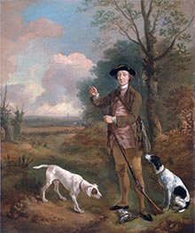 Major John Dade of Tannington, Suffolk, c.1755 by Gainsborough | Painting Reproduction