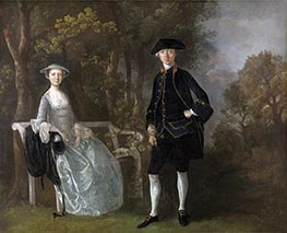 Lady Lloyd and Her Son, Richard Savage Lloyd of Hintlesham Hall, Suffolk, c.1745/1746 by Gainsborough | Painting Reproduction