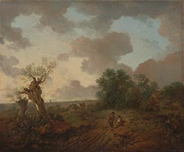 Suffolk Landschaft, c.1755 von Gainsborough | Gemälde-Reproduktion
