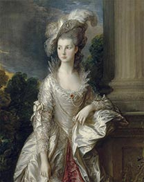 The Honorable Mrs Graham (Detail), c.1775/77 by Gainsborough | Painting Reproduction