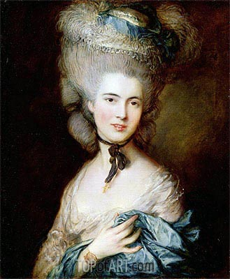 A Woman in Blue (Portrait of the Duchess of Beaufort), c.1775/80 | Gainsborough | Painting Reproduction