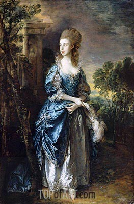 The Hon. Frances Duncombe, c.1777 | Gainsborough | Painting Reproduction