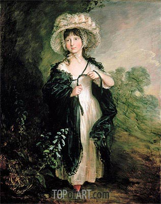 Miss Elizabeth Haverfield, c.1782 | Gainsborough | Painting Reproduction