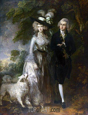 Herr und Frau William Hallett (Der Morgen-Weg), 1785 | Gainsborough | Gemälde Reproduktion