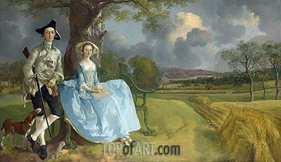 Mr and Mrs Andrews, c.1749/50 | Gainsborough | Painting Reproduction