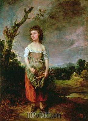 Peasant Girl Gathering Faggots, 1782 | Gainsborough | Painting Reproduction