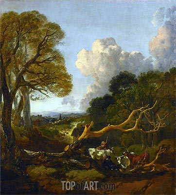 The Fallen Tree, c.1750/53 | Gainsborough | Painting Reproduction