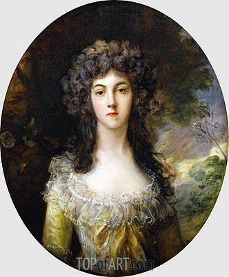 Portrait of Mrs Charles Hatchett, c.1786 | Gainsborough | Painting Reproduction
