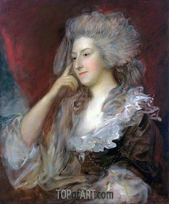 Mrs Fitzherbert, 1784 | Gainsborough | Gemälde Reproduktion