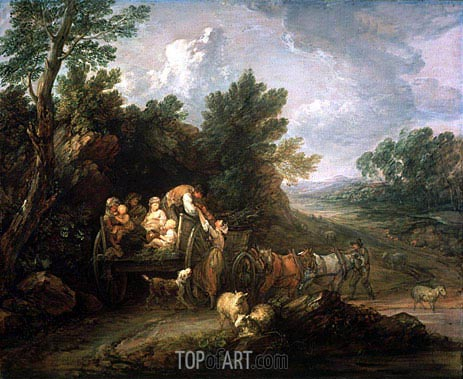The Harvest Waggon, 1784 | Gainsborough | Gemälde Reproduktion