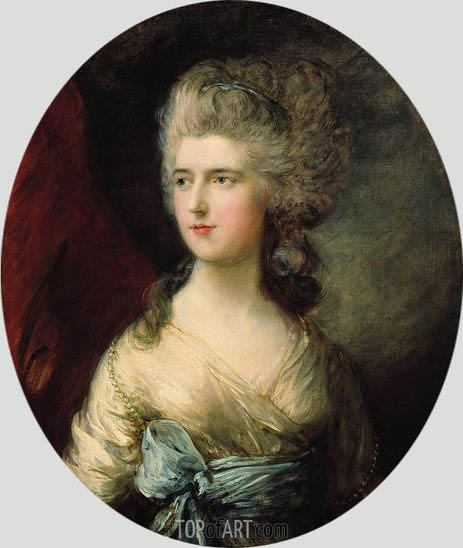 Portrait of Lady Anna Horatia Waldegrave, c.1783 | Gainsborough | Painting Reproduction
