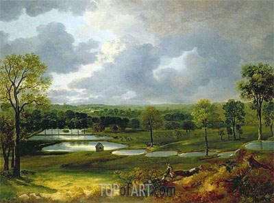 Holywells Park Ipswich, c.1748/50 | Gainsborough | Painting Reproduction