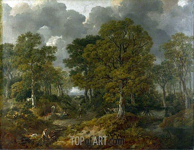 Cornard Wood, near Sudbury, Suffolk (Gainsborough's Forest), 1748 | Gainsborough | Gemälde Reproduktion