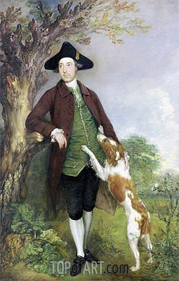 Portrait of George Venables Vernon, 2nd Lord Vernon, 1767 | Gainsborough | Gemälde Reproduktion