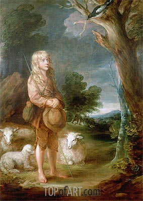 Shepherd Boy Listening to a Magpie, Undated | Gainsborough | Painting Reproduction