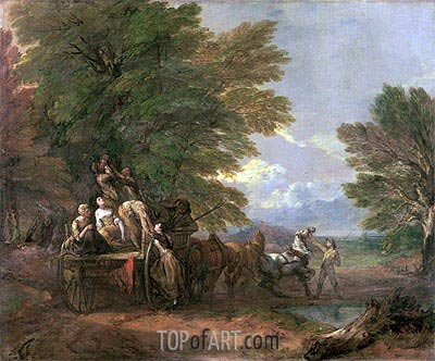 The Harvest Wagon, c.1767   Gainsborough   Painting Reproduction