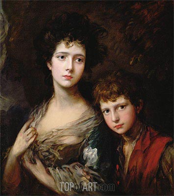 Elizabeth and Thomas Linley, c.1768 | Gainsborough | Painting Reproduction