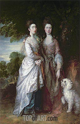 The Painter's Daughters, Undated | Gainsborough | Painting Reproduction