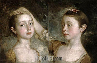 The Painter's Daughters Mary and Margaret, c.1758 | Gainsborough | Gemälde Reproduktion
