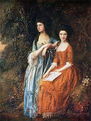The Linley Sisters (Mrs. Sheridan and Mrs. Tickell), Undated | Gainsborough | Painting Reproduction