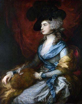 Mrs Siddons, 1785 | Gainsborough | Painting Reproduction