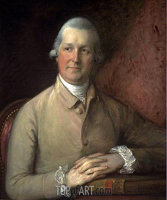 Eleazar Davy of the Grove, Yoxford, Suffolk, c.1775 | Gainsborough | Painting Reproduction
